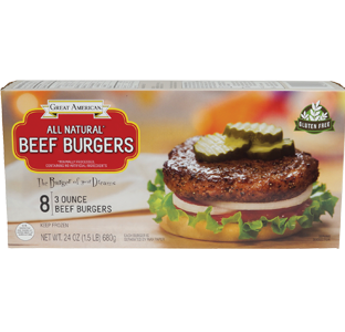 3 Ounce Beef Burgers