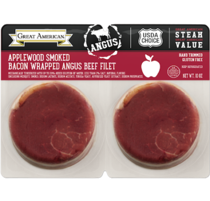 Applewood Smoked Bacon Wrapped Angus Beef Filet image